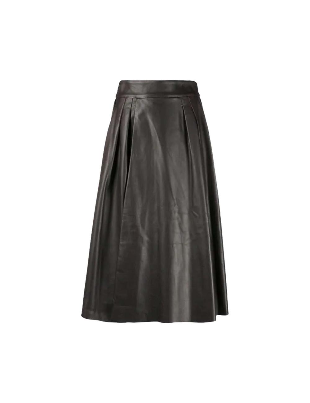 Mid-length leather skirt Dolce Gabbana - BIG BOSS MEGEVE