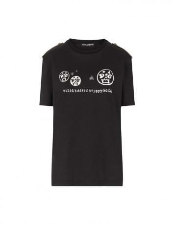 T-shirt with shoulder pads Dolce&Gabbana - BIG BOSS MEGEVE