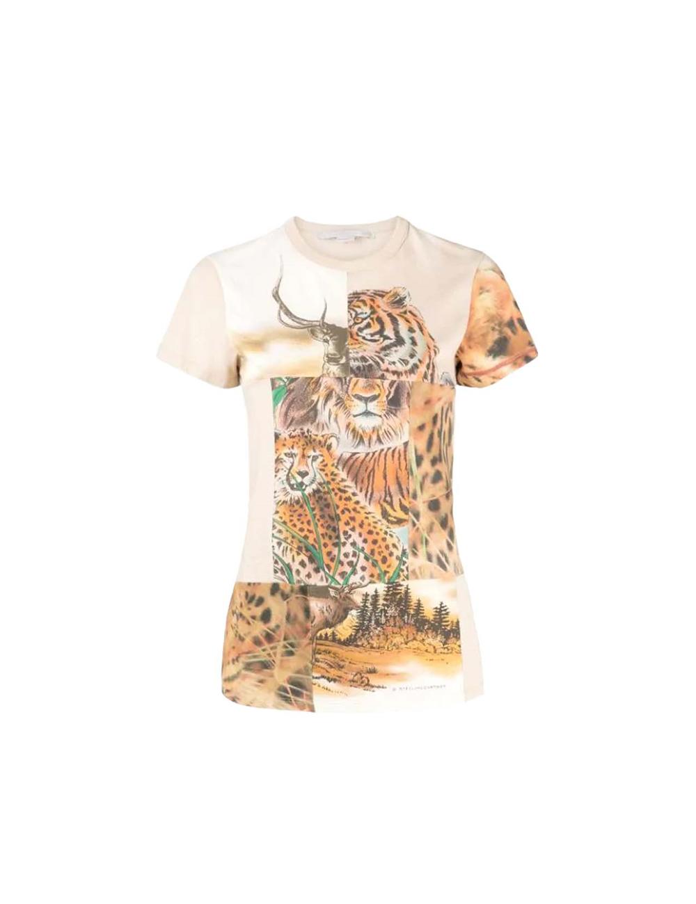 T-shirt savannah patchwork Stella McCartney - BIG BOSS MEGEVE