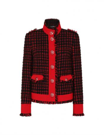 Tweed straight jacket Dolce & Gabbana -BIG BOSS MEGEVE